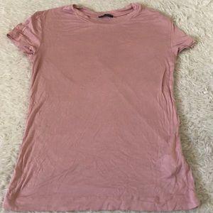 2 for $10 🐳 Zara basic pink t shirt